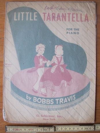 Partitura Musical Piano Antiga - A Little Tarantella