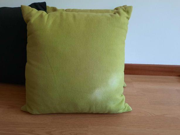 4 almofadas verde e preto