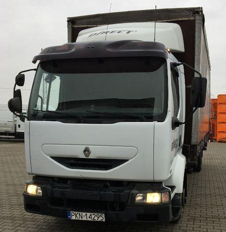 Samochód ciężarowy skrzyniowy RENAULT MIDLUM 220 Winda Firanka