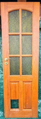 Drzwi wewnętrzne, lite drewno, 60 cm