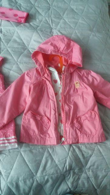 Cool Club Smyk Kurtka kurteczka wiosenna różowa z bluza 86