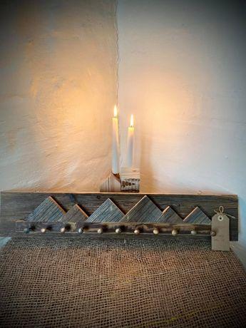 Drewniany wieszak Wieszak z drewna Loft Wooden hanger 68x13 cm