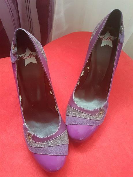 Sapato killah verniz lilás novo