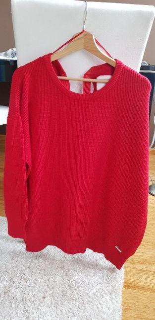 czerwony sweter Diverse M/L