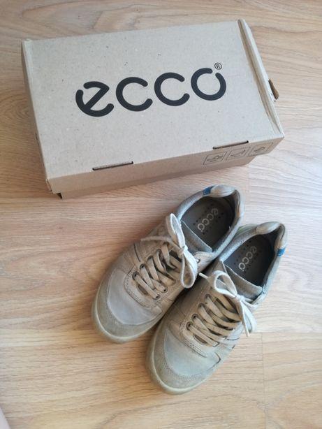 Buty sportowe skórzane Ecco 39 adidasy jasne szare sznurowane damskie