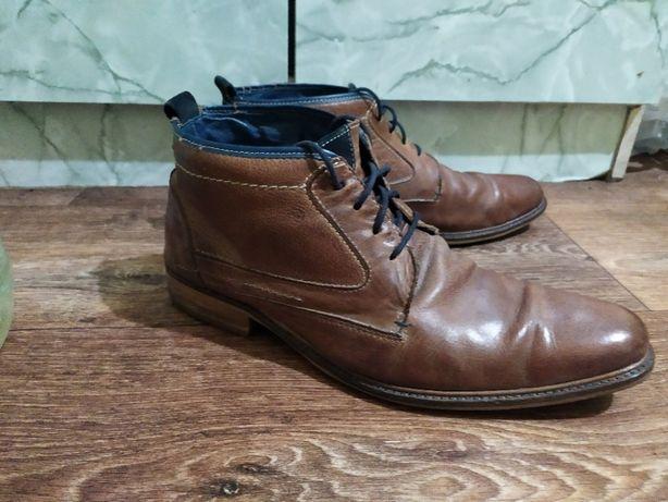 Ботинки туфли Jack & Jones стильные премиум класса КОЖА 44 размер
