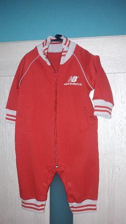 Rampers New Balance r 80 markowy dresik ubranko dla maluszka czerwony