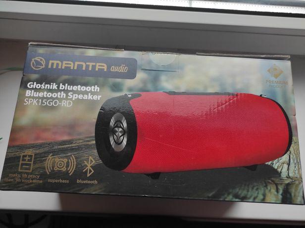 Głośnik MANTA audio SPK15GO-RD czerwony z paskiem