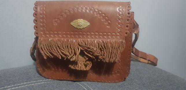 Vintage torebka ze skóry do renowacji