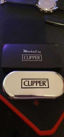 Isqueiro Clipper cromado anodized metal