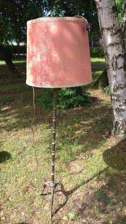 Lampa mosiężna stojąca antyk