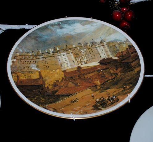 Анткварная 18..-1940 старинная тарелка антиквариат Шотландия дворец