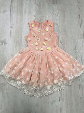 Sukienka elegancka koronka kwiaty 92cm