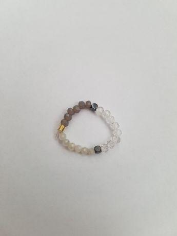 Pierścionek handmade z kamieni wersja 3