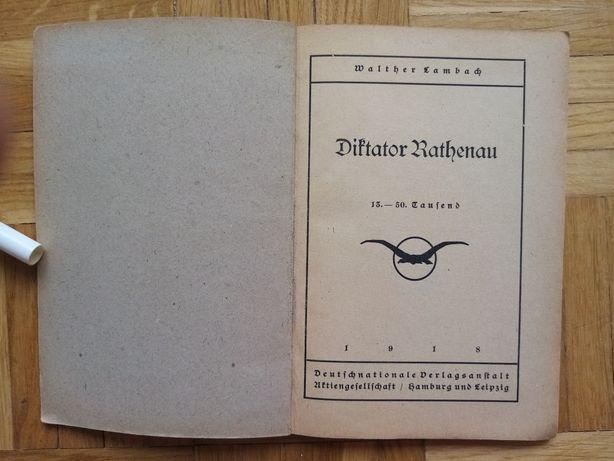 Walther Lambach Diktator Rathenau pieczątka biblioteka Stettin 1918