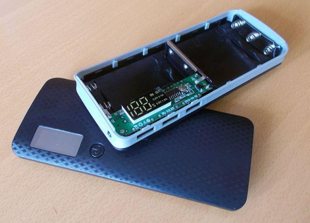 Power Bank Box koszyk 18650 x5 Ładowarka LCD akumulatorki powerbank