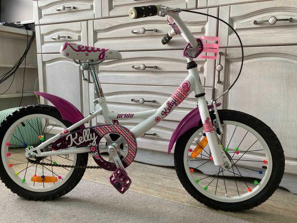 Велосипед для девочки Pride 16 KELLY 2014 бело-сиреневый