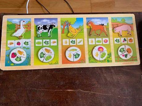 Puzzle educativo em madeira especial para crianças pequenas