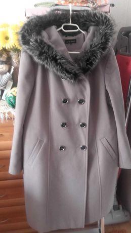 Płaszcz damski popielaty ciepły