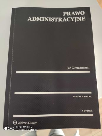 Prawo administracyjne Jan Zimmermann