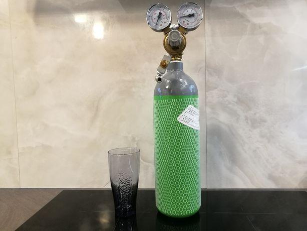 Zestaw CO2 do akwarium 5L butla reduktor zawór gotowy do użycia