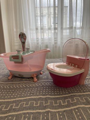 Беби Берн ванна и горшок, со звуком и подсветкой! Оригинал!