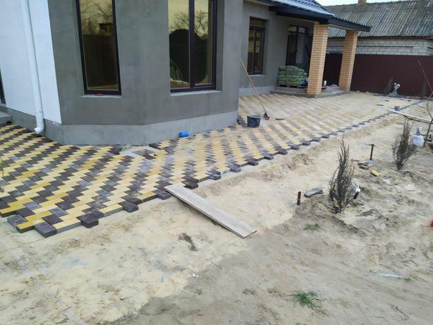 Укладка,изготовление,тротуарной плитки еврозаборов  отделочные работы.