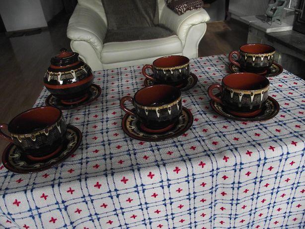 Bułgarski komplet kawowy.