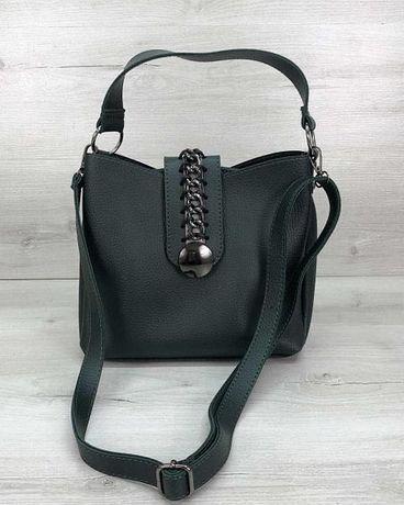 Женская сумка Сати зеленая Жіноча сумка зелена