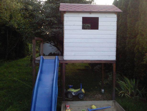 Drewniany domek dla dzieci do ogrodu, na działkę, plac zabaw
