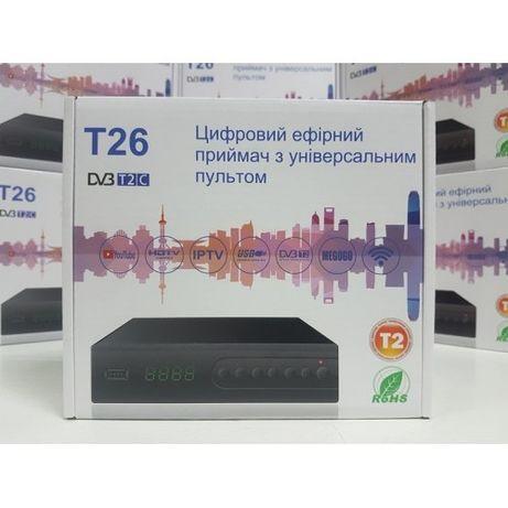 Приставка Т2 приемник DVB-T2 Uclan T26 YouTube IPTV декодер ресивер