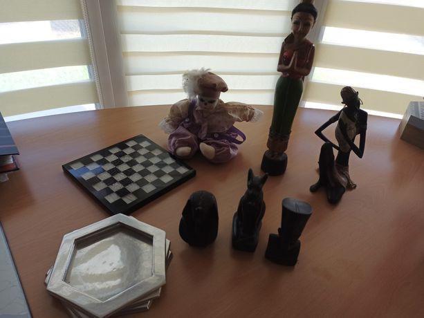 Estátuas do Egipto, cinzeiro e palhaço porcelana