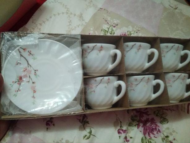 "чайный сервиз на 6 персон ""цвіт сакури"""
