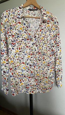 Koszula w kwiaty Zara roz .S