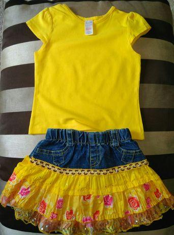 Костюм miniclub (юбка +футболка) ид. Сост 18 мес
