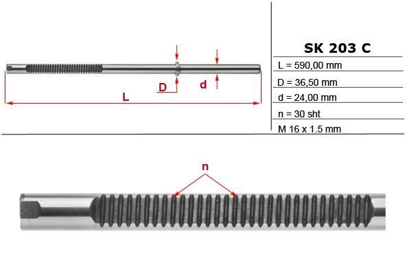 Listwa zębata przekładni kier. Seat Cordoba Ibiza Skoda Fabia vw Polo Sandomierz - image 1