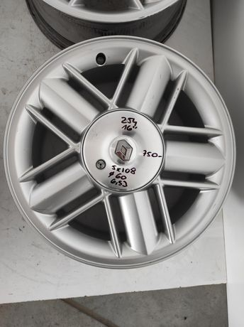 254 Felgi aluminiowe ORYGINAŁ RENAULT R 16 5x108 otwór 60 Ładne