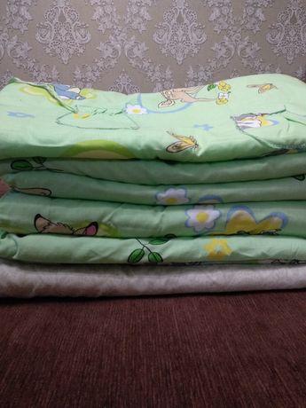 Детский постельный комплект с бортиками