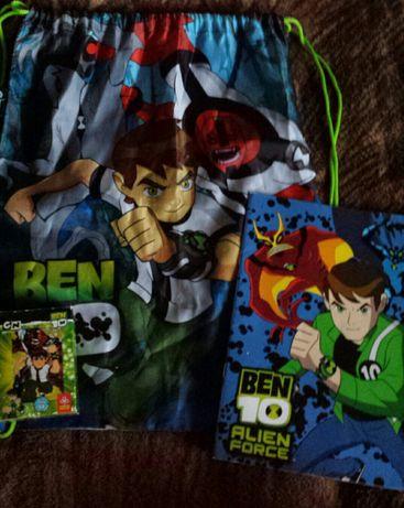 Ben 10- worek, puzzle, notes