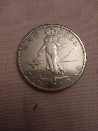 stara moneta mexico 1908r one peso