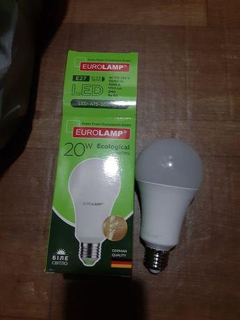 Светодиодные лампы EUROLAMP 20w лампочки, цоколь E27