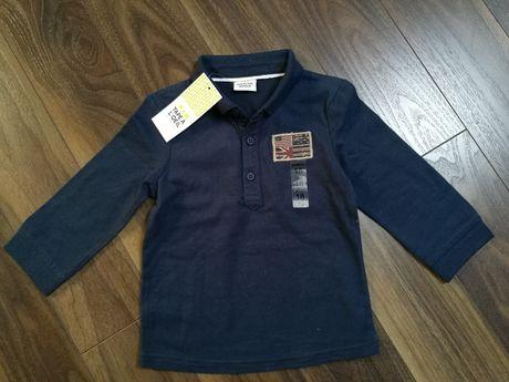 Nowa bluzeczka z kołnierzykiem, r.80