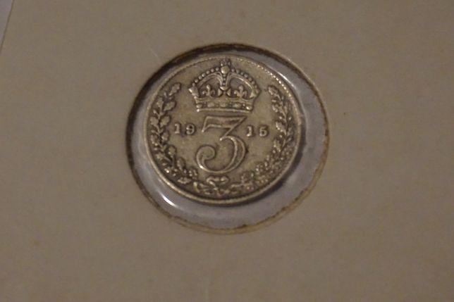 Wielka Brytania, 3 pensy z 1915