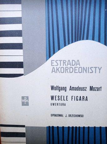 Rzadkie nuty akordeon Estrada akordeonisty 58 r. Wesele Figara Mozart