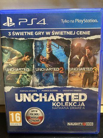 Uncharted kolekcja nathana drake'a PS4 uncharted 1,2 i 3