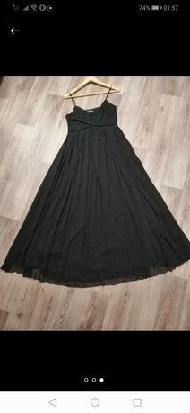 Платье чёрное в пол