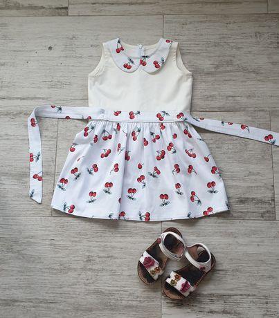 Платье в вишинку на девочку 2-3 года