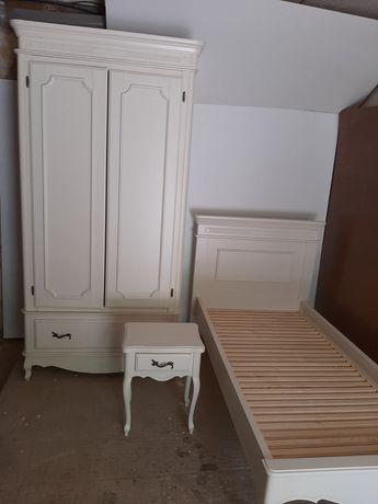 Спальня детская Cavio шкаф кровать тумба с натурального дерева