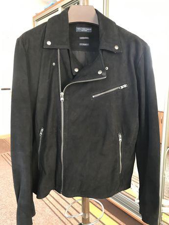 Мужская чёрная новая замшевая куртка косуха, разм. XL (52)