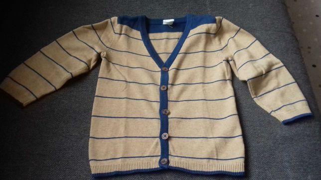 Sweterek rozpinany H&M 92